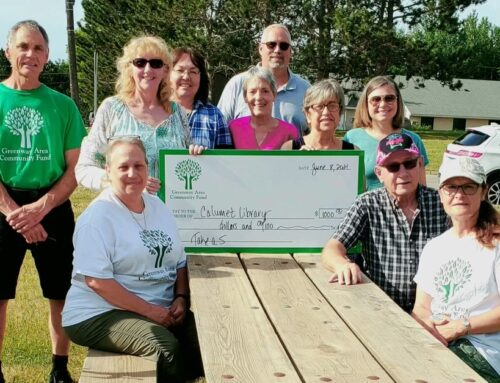Greenway Community Fund Awards $1000 to Calumet Public Library